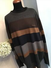NEW Designer PIERRE CARDIN PARIS Jumper Size 4XL Brown Mix Excellent Condition
