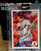 2020 Topps Project 2020 Mike Trout By Andrew Thiele Card #35