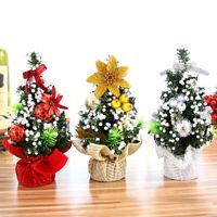 AU_ FT- BH_ FP- 20cm Mini Christmas Tree Bow-knot Ball Flower Xmas Table Decor O