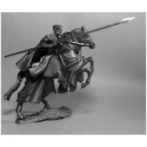 CRUSADERS Mounted Knight Templar Metal Figure 1/32 Tin Toy Soldiers