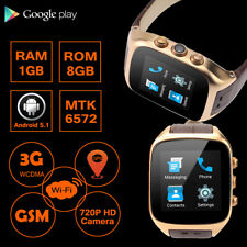 Cawono 1GB/8GB Heart Rate SIM Smart Watch Android 5.1 WCDMA GPS Phone 3G WiFi