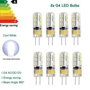 8X G4 LED bulb 2W SMD chip AC DC 12V Capsule Corn Light Cool white daylight lamp
