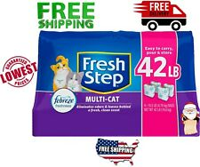 Fresh Step Multi-Cat Scented Litter with Power Febreze Clumping 42lbs Free Ship