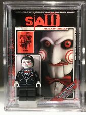 Jigsaw Billy Horror Halloween Custom Mini Action Figure wCase & Stand Mini-fig