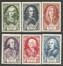France 853-58 Célébrités XVIIIe 1949 neufs ** luxe 31,00 euros (cb12)