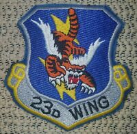 USAF Air Force 23d Wing Tactical Fighter Squadron Patch Color Flying Tigers RARE