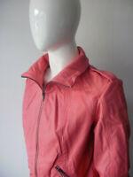 Pink Real Leather Jacket, Bomber Jacket Size 12
