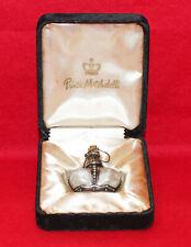 Vtg Prince Matchabelli Original Crown Bottle in Black Velvet Box