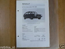 R26-RENAULT 20 TS 2 LITRES SEDAN 1977-1978 -TECHNICAL I