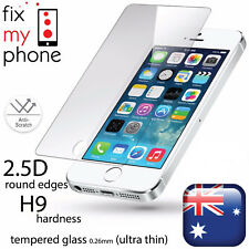 2 x Scratch Resist Tempered Glass Screen Protector for iPhone 5 5C 5S