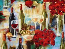 Fat Quarter Vineyard Wine Grapes Fruit Fabric Quilting David Textile Fq