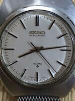 Vintage Seiko 37-7000 EL-370 Electronic White Dial Mens Watch