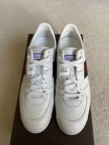 Gucci SL73 Guccissima Leather White US 8.5 UK 8