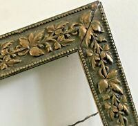Vtg Antique Ornate Wood Carved Frame Gesso Leaves SHABBY Gold Baroque 16 x 20