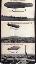 106611 3 AK Frankreich um 1910 Pionierluftfahrt Zeppelin Le Dirigeable Ville de