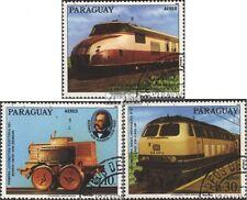 Paraguay 4025-4027 (kompl.Ausg.) gestempelt 1986 150 Jahre deutsche Eisenbahn