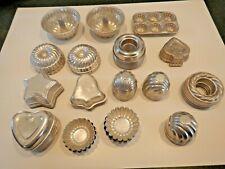 Lot of 75 Vintage Tart Tins Aluminum Jello Molds Stars Round Swirl Bundt Baking