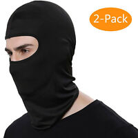 2 Pack Men Balaclava Black Face Mask Lightweight Motorcycle Warmer Ski
