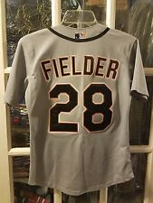 Prince Fielder Detroit Tigers Authentic SEWN Road Jersey Youth M Rangers Brewers