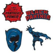 Black Panther Set of 4 Metal Enamel Logo Pins