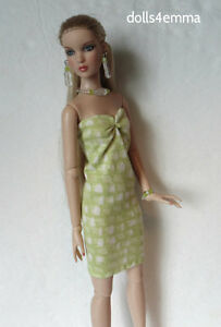 CAMI & ANTOINETTE clothes Handmade Peridot DRESS and JEWELRY Fashion NO DOLL