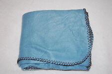 "Fleece Throw Blanket Light Slate Blue Solid Color Rectangular 50x60"""