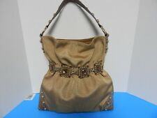 Beautiful Kathy Van Zeeland Studs Hobo Handbag Purse Brown Color