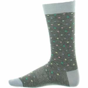 MSRP $18 Men's Patterned Dress Socks Lot (2 Grey Stripes and 1 Polka Dots)  7-13