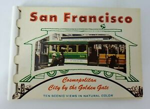 VINTAGE San Fransisco Cosmopolitan Ten Scenic Views Color Picture Book 1970's