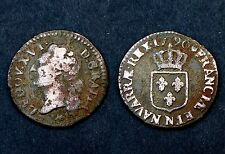 1/2 Sol 1790 N (Montpellier) Louis XVI°. Cuivre. Cote TB: 40€