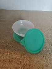 Vintage Tupperware 754 Dessert Pudding Parfait Cup with Lid Mint Green