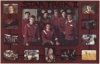 STAR TREK II ~ WRATH KHAN CAST COLLAGE 22x34 MOVIE POSTER William Shatner Nimoy