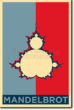 L'ensemble de Mandelbrot art photo print (Obama Hope) Poster Cadeau fractal Lsd Acide