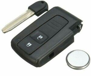 Fits TOYOTA COROLLA VERSO PRIUS 2 BUTTON SMART REMOTE KEY CASE + Blade Battery