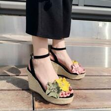 Women's Ankle Strap Wedge Heels Sandals Ladies Summer Platfrom Shoes Slippers