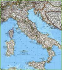 Italia Europe- detailed color.digital.map of Italy - free.shipping  via eemail