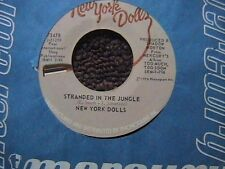 "NEW YORK DOLLS ""STRANDED IN THE JUNGLE"" / ""WHO ARE THE MYSTERY GIRLS"" 7"" 45"
