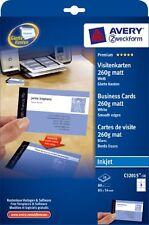 Avery  inkjet white business cards 10 Sheet Packs C32015-10