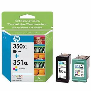 Refilled Ink For HP 350 XL + HP 351 XL Cartridges 350XL 351XL Black And Colour