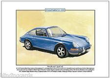 PORSCHE 911S fine art print-FORMATO A4 FOTO 1966-73