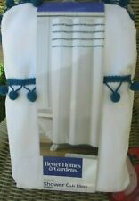 Better Homes & Gardens Fabric Shower Curtain Pom Pom 72 in. Wide 72 in L Nip