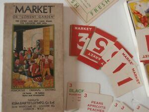 Vtg 1930s CARD GAME -MARKET or COVENT GARDEN - KUM-BAK MFG CO LTD - Complete vgc
