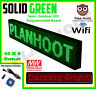GREEN 40X8 INCHES WIFI, APP LED SCROLLING SIGN FOR SEMI OUTDOOR AND INDOOR USE