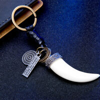 AuPra Big Fang Keyring  | Leather Vintage Keychain | Key Ring Tooth Women Gifts