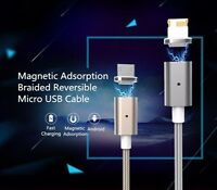 Magnetic Data&Charger Charging Cable for iPhone 7 6s Plus Samsung S7 S6 Edge New