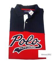 RALPH LAUREN POLO SHORT SLEEVE 67 SHIRT TOP BIG&TALL SIZE 2XLT RED/NAVY BLUE