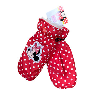 Disney's Mickeys For Kids Girl's Minnie Mouse Winter Ski Mittens Fully Lined NEW