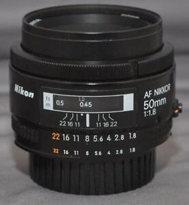 Nikon AF Nikkor 50mm 1:1.8 Lens – Excellent-Plus