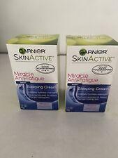 (2) 1.7 Oz Garnier Miracle Anti-Fatigue Sleeping Cream