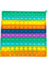 XXL 20x20cm Big groß Push it Pop it Bubble Spielzeug Rainbow Antistress TikTok